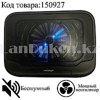 Охлаждающая подставка кулер для ноутбука 15 дюймов бесшумный с подсветкой ColdPlayer IS930