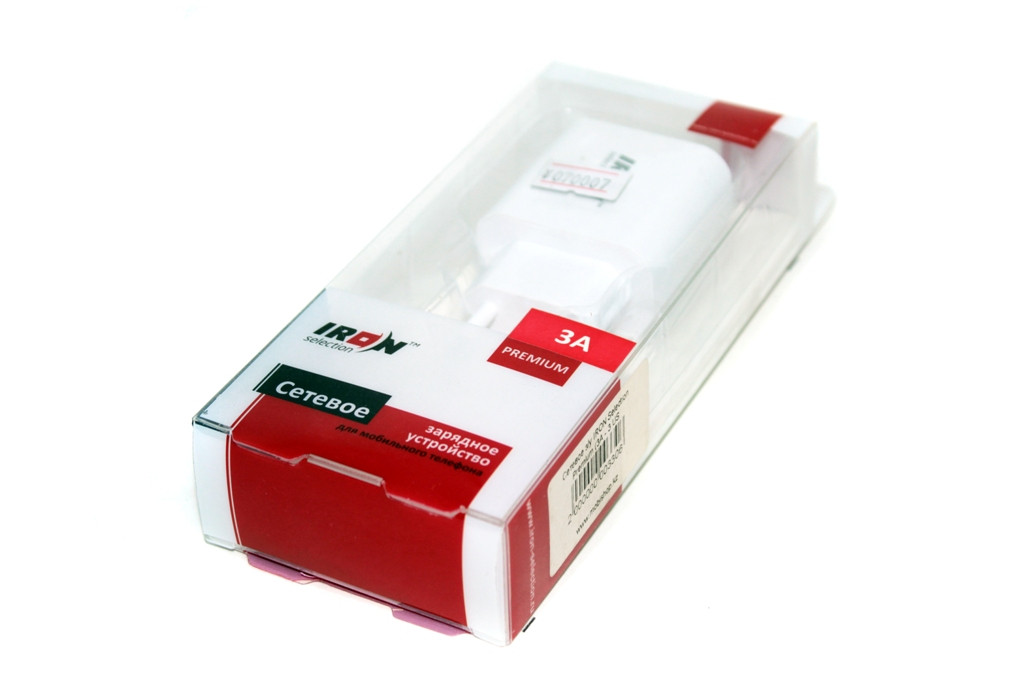 Сетевой USB адаптер IRON, 3 USB 5V 3A, белый