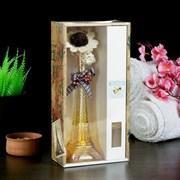 "Набор подарочный""Эйфелева башня""(ваза,2 палочки с шариками,декор,аромамасло 30 мл), ваниль"