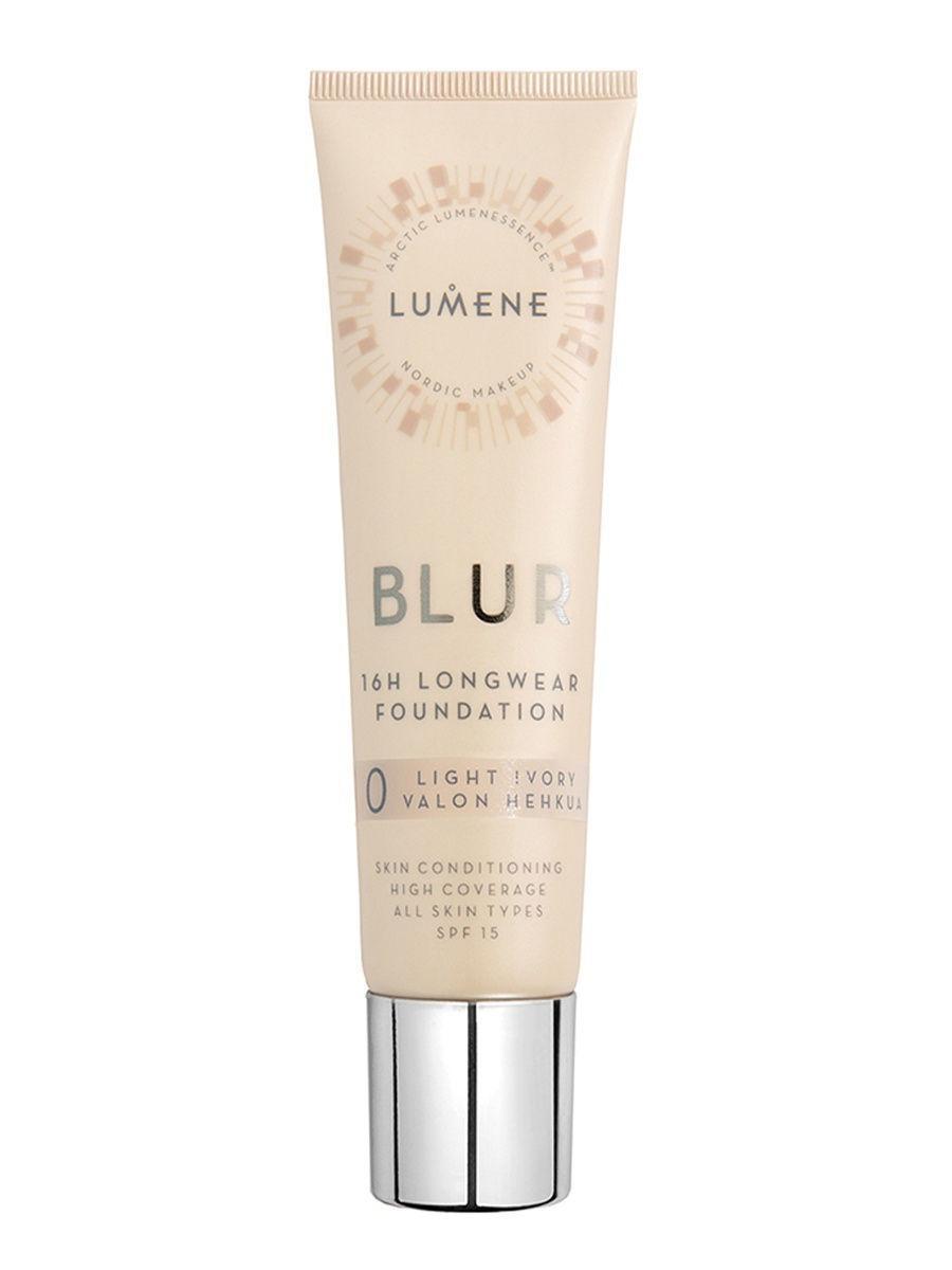 Lumene / Lumene Устойчивый тональный крем Blur 16 часов SPF 15 №0, оттенок Light Ivory Цвет: бежевый