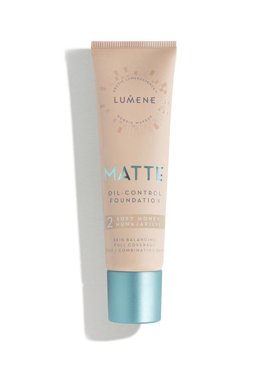 Lumene / Lumene Матирующий тональный крем №02, оттенок Soft Honey
