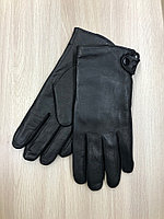 Мужские кожаные перчатки на натуральном меху