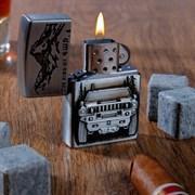 """Зажигалка газовая """"Джип"""" в подарочной коробке, газовая, цвета МИКС"""