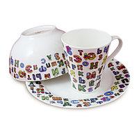 Детский набор посуды Азбука (Акку, Казахстан)