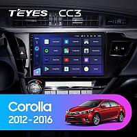 Автомагнитола Teyes CC3 4GB/64GB для Toyota Corolla 2012-2016