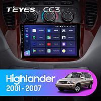 Автомагнитола Teyes CC3 4GB/64GB для Toyota Highlander 2001-2007