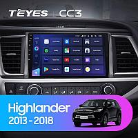 Автомагнитола Teyes CC3 4GB/64GB для Toyota Highlander 2013-2018