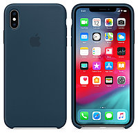 Чехол Silicone Case Full Protective для iPhone X (Dark Blue) 5007