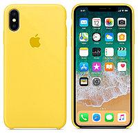 Чехол Silicone Case Full Protective для iPhone X (Yellow)