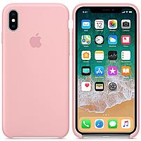 Чехол Silicone Case Full Protective для iPhone X (Pink)