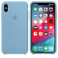 Чехол Silicone Case Full Protective для iPhone X (Blue)