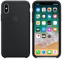 Чехол Silicone Case Full Protective для iPhone X (Black)