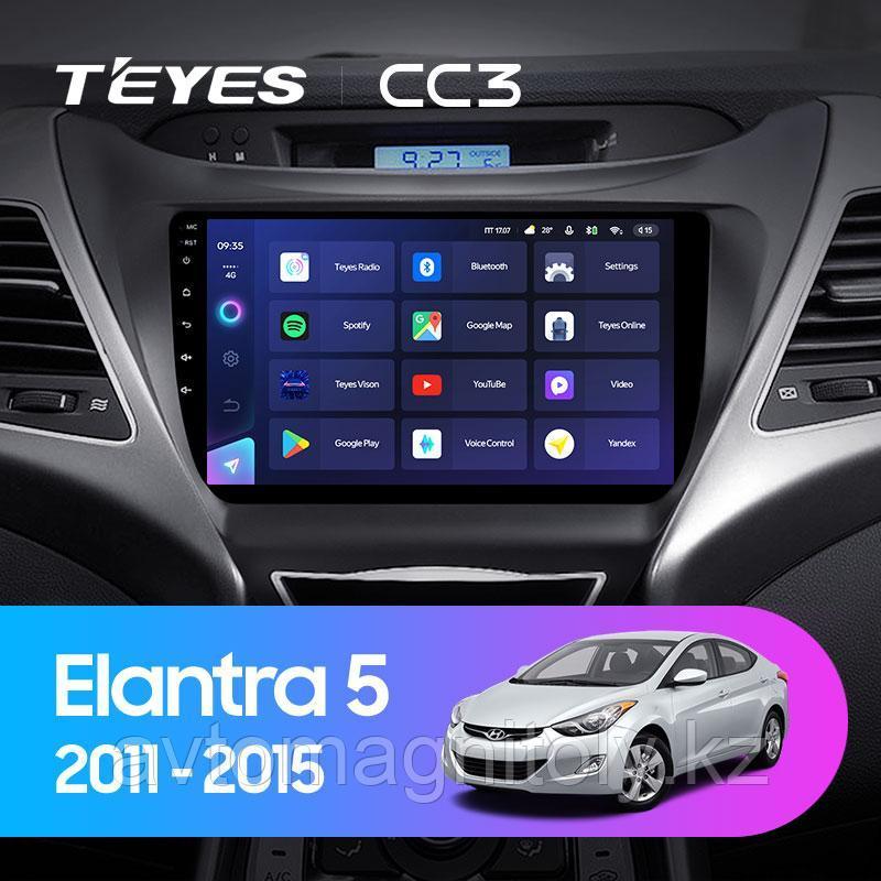 Автомагнитола Teyes CC3 4GB/64GB для Hyundai Elantra 2011-2015