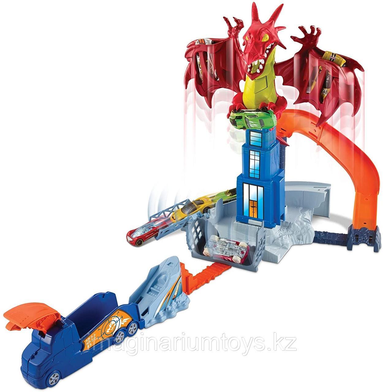Трек Хот Вилс Битва с драконом Hot Wheels City