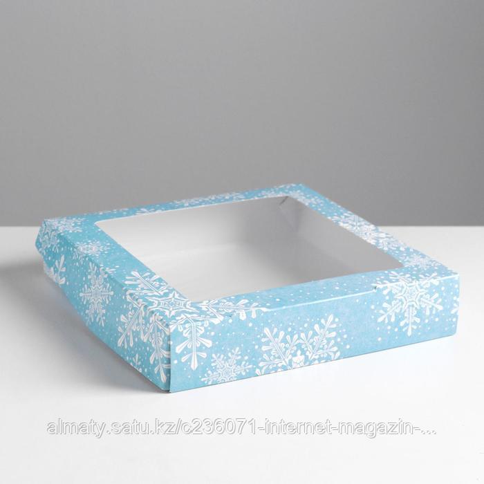 Коробка складная «Снежинки» - фото 1