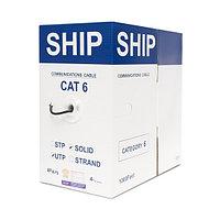 Кабель сетевой SHIP D165A-C Cat.6, UTP, 30В, 4x2x1/0.574мм,  PE, 305 м/б (Кабель сетевой, SHIP, D165A-C,