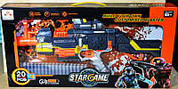SB418 Бластер+20 патронов Star Ame лазер,на бат. 58*30см, фото 1