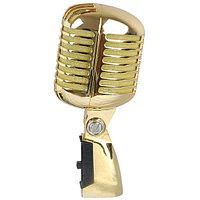 Сценический проводной микрофон ретро дизайна VINTAGE GOLD