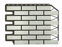 Фасадные панели Баварский кирпич Белый 795х595 мм (0,38 м2) ДАЧНЫЙ FINEBER