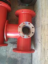 Подставка пожарная ППДФ Ду 150 стальная фланцевая двойная под пожарный гидрант, фото 3