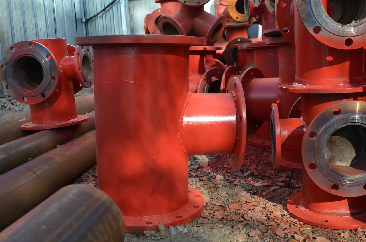 Подставка пожарная ППДФ Ду 250 стальная фланцевая двойная под пожарный гидрант