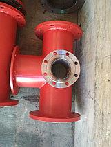 Подставка пожарная ППДФ Ду 250 стальная фланцевая двойная под пожарный гидрант, фото 2
