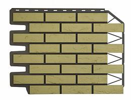 Фасадные панели Баварский кирпич Песочный 795х595 мм (0,38 м2) ДАЧНЫЙ FINEBER