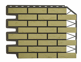 Фасадные панели Кирпич баварский Песочный 795х595 мм Дачные FINEBER
