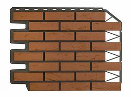 Фасадные панели Баварский кирпич Терракотовый 795х595 мм (0,38 м2)  ДАЧНЫЙ FINEBER