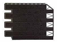 Фасадные панели Баварский кирпич Тёмно-коричневый 795х595 мм (0,38 м2) ДАЧНЫЙ FINEBER