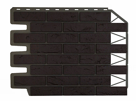 Фасадные панели Кирпич баварский Тёмно-коричневый 795х595 мм (0,38 м2) ДАЧНЫЙ FINEBER