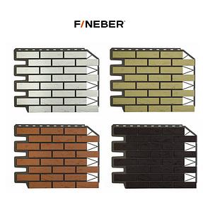 Фасадные панели Баварский кирпич 795х595 мм (0,38 м2) ДАЧНЫЙ FINEBER