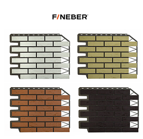 Фасадные панели Кирпич баварский 795х595 мм (0,38 м2) ДАЧНЫЙ FINEBER