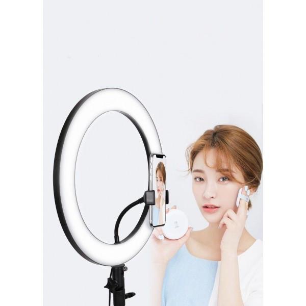 Кольцевая лампа 36 см со штативом 2 м с пультом