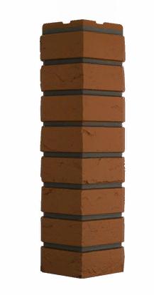 Угол Наружний Терракотовый 589х155х155 мм Баварский кирпич Дачные FINEBER
