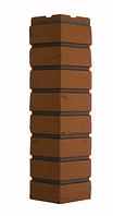 Угол Наружный Терракотовый 589х155х155 мм Баварский кирпич  ДАЧНЫЙ FINEBER