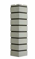 Угол Наружный Белый 589х155х155 мм Кирпич баварский ДАЧНЫЙ FINEBER