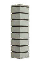 Угол Наружный Белый 589х155х155 мм Баварский кирпич ДАЧНЫЙ FINEBER
