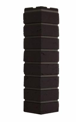 Угол Наружний Тёмно-коричневый 589х155х155 мм Баварский кирпич Дачные FINEBER