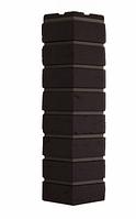 Угол Наружный Тёмно-коричневый 589х155х155 мм Баварский кирпич  ДАЧНЫЙ FINEBER
