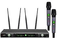 Профессиональная микрофонная радиосистема US-102 (600-636MHZ)