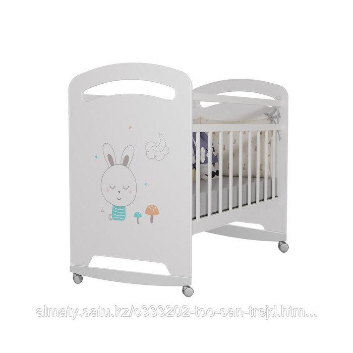 Кровать детская Lucy ( на колесах)бежевый