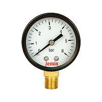 Манометр (боковое подкл.) 6 бар 50 мм Jemix
