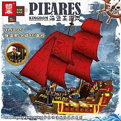 Конструктор QL1805 Пиратский Корабль на аллых парусах, 1436 дет. (Аналог LEGO)