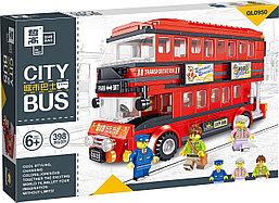Конструктор QL0950 Двухэтажный автобус Лондонсткий Даблдеккер, 398 дет. (Аналог LEGO)