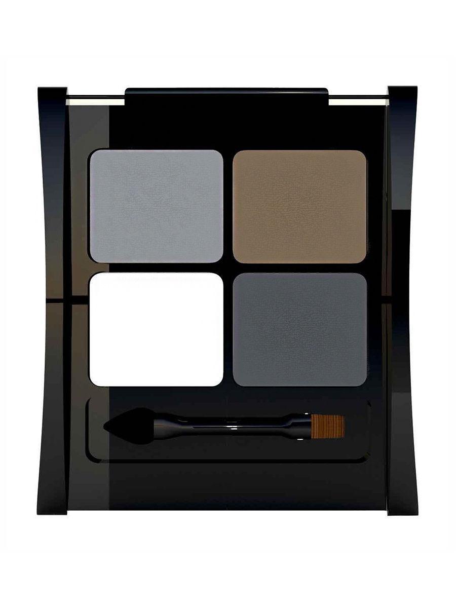 LiLo / Набор для моделирования бровей LiLo Eyebrow Designer, тон1002Цвет: хаки, темно-серый, светло-серый
