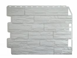 Фасадные панели Скол Белый 795х595 мм Дачные FINEBER