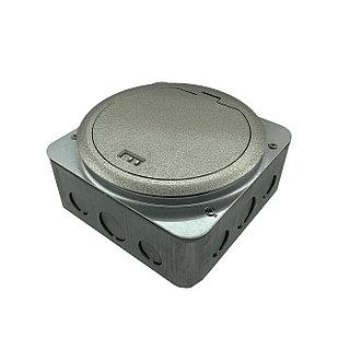 Shelbi SF-6M-IP65-S Напольный лючок на 4 модуля + 2 Keystoune модуля, IP65, металл, серебро