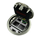 Shelbi SF-6M-IP65-S Напольный лючок на 4 модуля + 2 Keystoune модуля, IP65, металл, серебро, фото 10