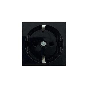 Shelbi SS45-Z-B Розетка одинарная 0° с з/к, 250 В, 16A 45х45, чёрная